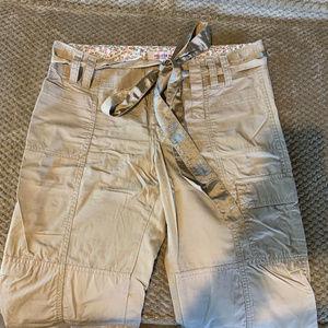 Hollister Slim Cargo Pants with Tie Belt